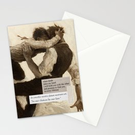 Dark Academia | Romance - In Our Choices Lie Our Fate | Poetry Study Painting Love Death Aesthetic Stationery Cards