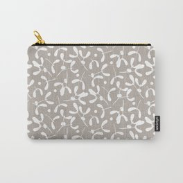 Mistletoe - Warm Gray Carry-All Pouch