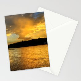 when the light turns to gold... Stationery Cards