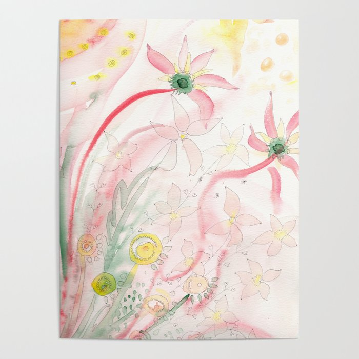 Summer flower meadow Poster
