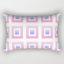Tribute to mondrian 7- piet,geomtric,geomtrical,abstraction,de  stijl , composition. Rectangular Pillow