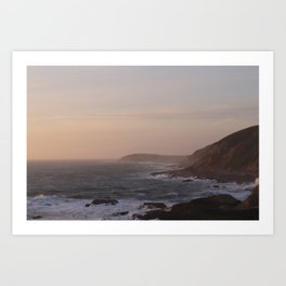 Dusk at Bodega Head Art Print