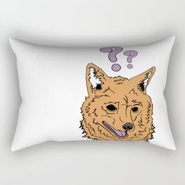 The Confused Hound Rectangular Pillow