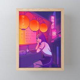 Ramen shop Framed Mini Art Print