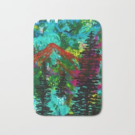 Go Wild - Mountain - Abstract painting Bath Mat