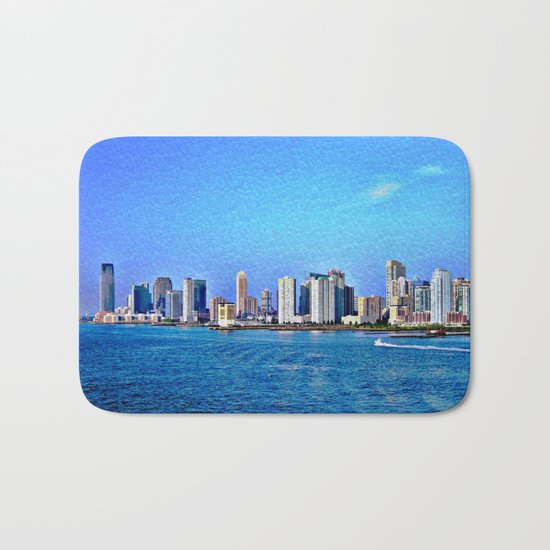 New York  Skyline   Bath Mat