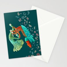 Surfing Monsters Stationery Cards
