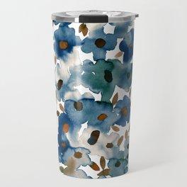 Georgia Floral Blue Travel Mug