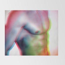 Muscle Man Throw Blanket