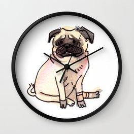 Katana - Pug Dog Watercolour Wall Clock
