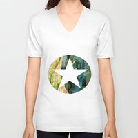 tulip V-neck T-shirts featuring Tulip by Aloke Design