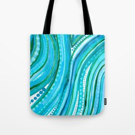 Lovely Waves Tote Bag