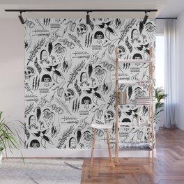 Death Lily Tattoo Flash Print Wall Mural