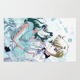 Haruka and Michiru Watercolor Rug