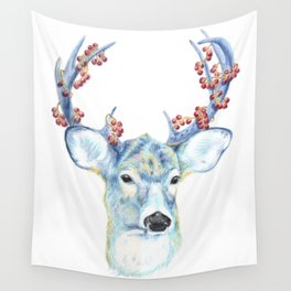 Christmas Deer - Forest animals series Wall Tapestry