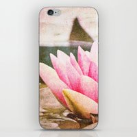lotus flower iPhone & iPod Skins featuring Lotus by Around the Island (Robin Epstein)