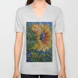 Sunflower Painting Unisex V-Neck