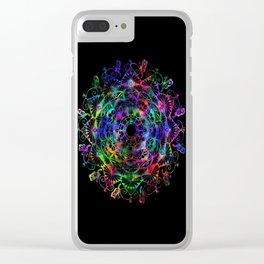 Butterfly mandala Clear iPhone Case