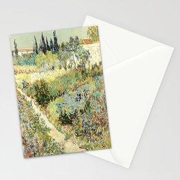 Vincent Van Gogh : Garden at Arles Stationery Cards