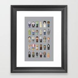 Horror Icons Framed Art Print