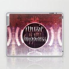 music is my happiness | music theme Laptop & iPad Skin