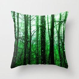 Emerald Forest Throw Pillow