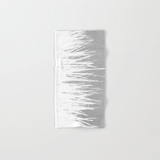 Concrete Fringe White Side Hand & Bath Towel