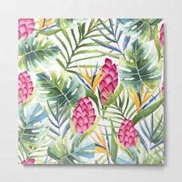 Tropical Leaves 9 Metal Print