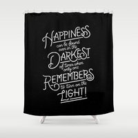 dumbledore Shower Curtains featuring Happiness can be found by WEAREYAWN