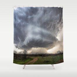 Attitude - Massive Storm Rumbles Over Plains of Texas Panhandle Shower Curtain