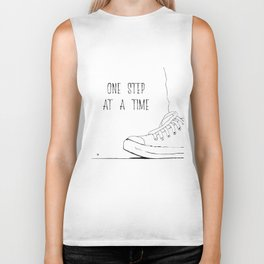 one step at a time Biker Tank
