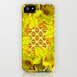 GOLDEN YELLOW SPRING DAFFODILS PATTERN GARDEN iPhone Case