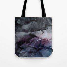 Moody Dark Chaos Inks Abstract Tote Bag