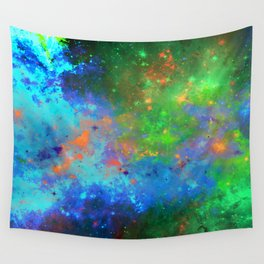 Speed Of Light - Abstract space painting Wall Tapestry