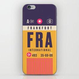 Retro Airline Luggage Tag - FRA Frankfurt iPhone Skin