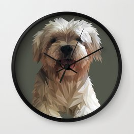 Shih tzu Low Poly Wall Clock
