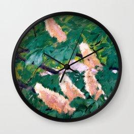 """Koloman (Kolo) Moser """"Chestnut flowers"""" Wall Clock"""