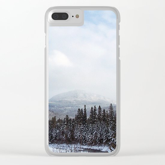 Winter in the Mountains Clear iPhone Case