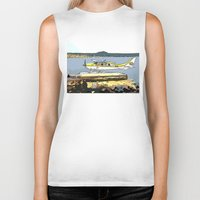 airplane Biker Tanks featuring Airplane by Cindys