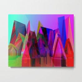 prismatc village full of colors Metal Print