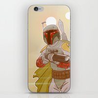 backpack iPhone & iPod Skins featuring Jet-powered Backpack by Art of Tyler Newcomb