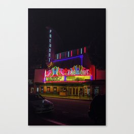 Night Lights Fremont Theater, San Luis Obispo, California Canvas Print