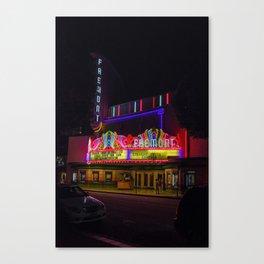 Night Lights Fremont Theater, San Luis Obispo, California Canvas Print