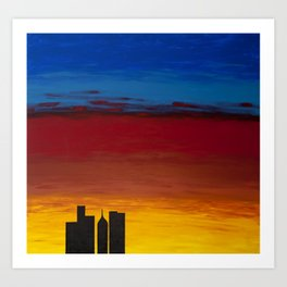City Morning Art Print