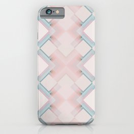 Pastel Lines / Geometric Pattern iPhone Case