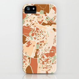 YEREVAN ARMENIA CITY MAP EARTH TONES iPhone Case
