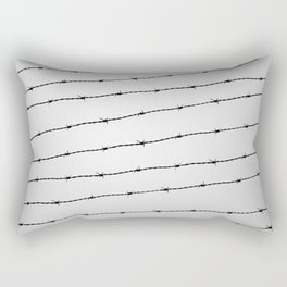 Cool gray white and black barbed wire pattern Rectangular Pillow