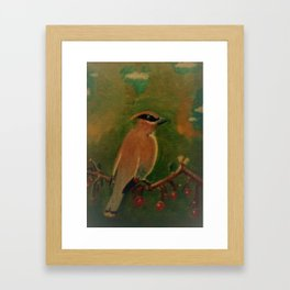 Waxwing Framed Art Print