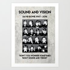 David Bowie : Sound and Vision Art Print