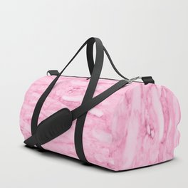 Hollywood Pink Faux Marble Duffle Bag